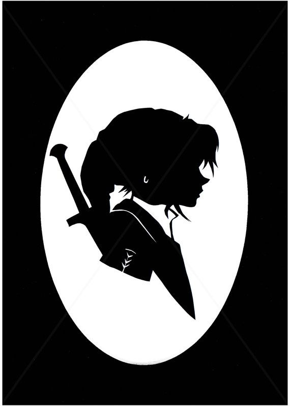 Alice In Wonderland Wallpaper Iphone Link Legend Of Zelda Matted Silhouette By