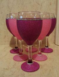 25+ Best Ideas about Birthday Wine Glasses on Pinterest ...