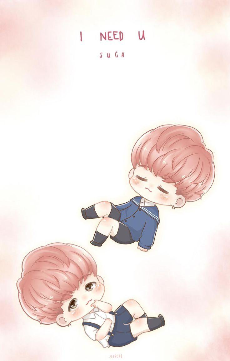 Cute Bts Drawings Wallpaper Fanart Suga I Need U 슈가 방탄소년단 Fanart Bts Facts