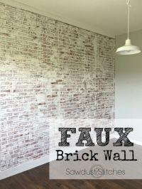 25+ best ideas about Faux brick walls on Pinterest | Brick ...