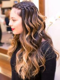Waterfall braid starting from the front | Hair inspiration ...
