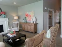 Color scheme of coral and seafoam green