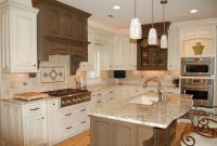 Pendant Lighting over Kitchen Island.