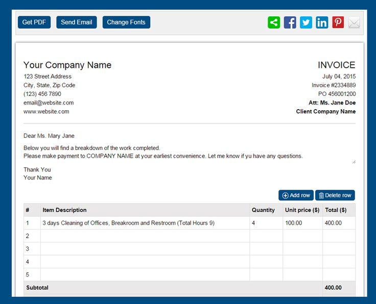 The 12 best images about Invoices on Pinterest - invoice template generator