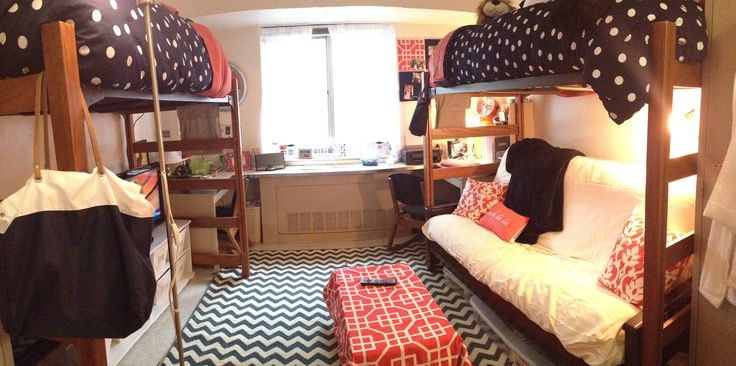 College Dorm Room Decorating Ideas Loving The Seating Area And How The Desks Are In Their Own