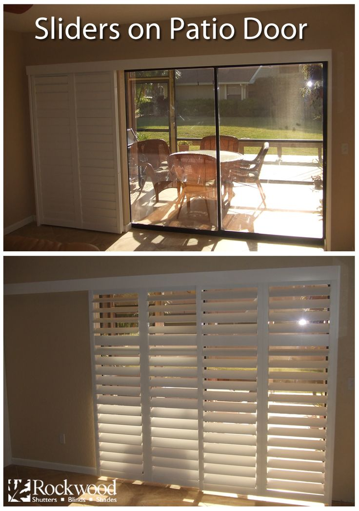 Roman Shades Ikea Sliding Shutters Are Great For Sliding Glass Patio Doors