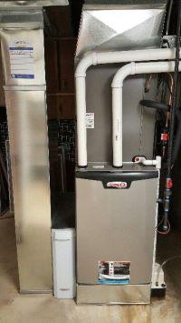 Lennox SLP98- 98% efficient modulating furnace installed ...