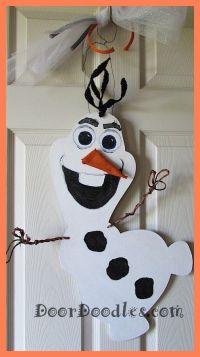 Frozen Olaf Snowman door hanger for 2014 Christmas with ...