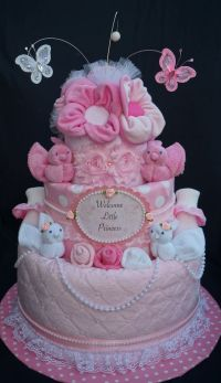 Best 20+ Girl diaper cakes ideas on Pinterest | Nappy cake ...