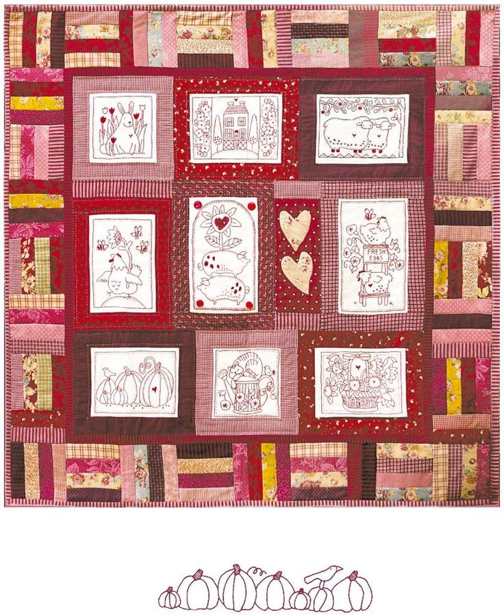 Quilt And Things Cotton Country Quilt Pattern | All Things Red Brolly