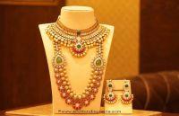 Gold Designer Short Necklace Set From Manubhai Jewellers ...