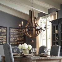 Rustic Wood and Iron Chandelier | lighting | Pinterest ...