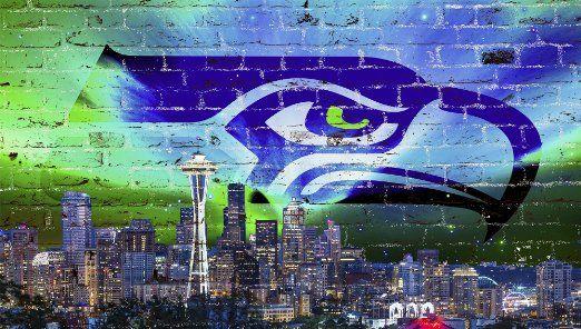 Nfl 3d Wallpaper Seattle Seahawks Amp City Scape Wallpaper Sports Seattle