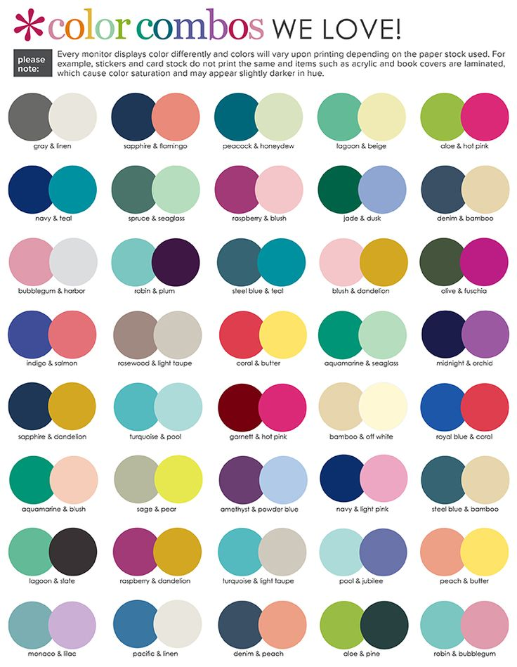 1000+ Ideas About Color Combinations On Pinterest | Color