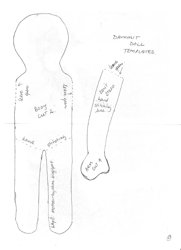 image relating to Dammit Doll Printable Pattern known as Rag Doll Sewing Behavior - Car or truck Electric Wiring Diagram