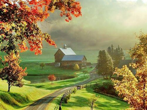 New England Fall Desktop Wallpaper This Is Sleepy Hollow Farm In Vermont As Bp Entry