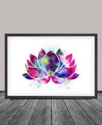 Lotus Flower Art, Yoga Artwork, Lotus Flower Decor ...