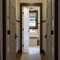 dark brown trim interior house | Hall Photos Dark Trim ...