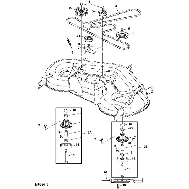 john deere l120 belt diagram