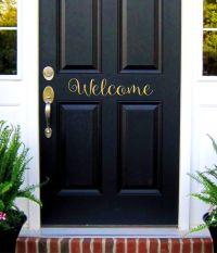 Welcome Door Decal, Welcome Sign, Vinyl Lettering, Welcome ...