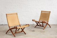 Mid Century Woven Lounge Chair Hans Wegner Style   Lounges ...