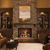 Living Room - Traditional white custom built in bookcases ...