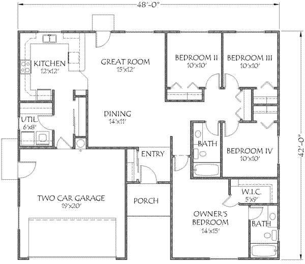 1500 Sq Ft Barndominium Floor Plan