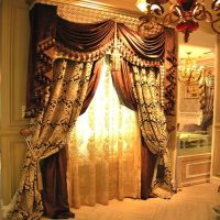 Luxury jacquard drapes (multi layer)