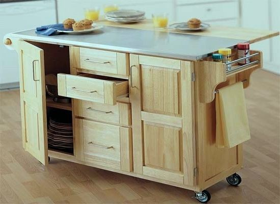 Wheeled Kitchen Islands Rolling Kitchen Island Drop Leaf | For The Home