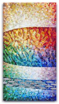 Mosaic Coral from serries Coral Reef by Angele Hanansen ...