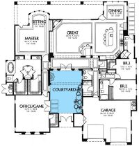 25+ best ideas about Courtyard house plans on Pinterest