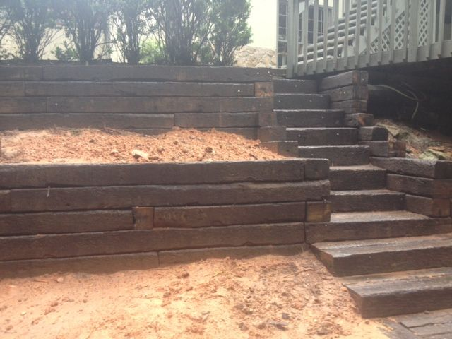 17+ Ideas About Railroad Tie Retaining Wall On Pinterest