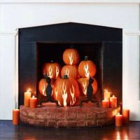 Pumpkins, Carved pumpkins and Fireplaces on Pinterest