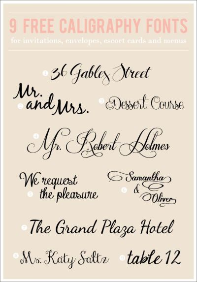 67 best WEDDING FONTS images on Pinterest