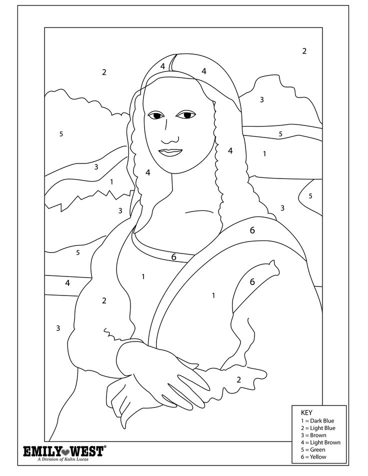Mona Lisa Coloring Page - Otvod