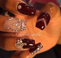 25+ best ideas about Dark red nails on Pinterest | Fall ...