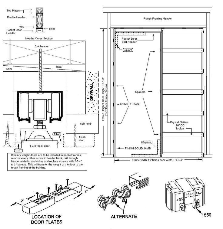 pocket door schematic