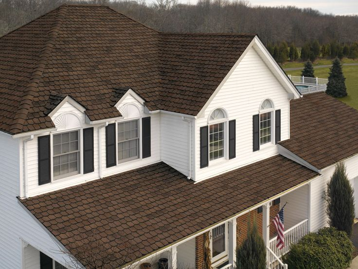 What Color Shutters Go With A Yellow House White House, Black Shutters, Brown Roof | For The Home