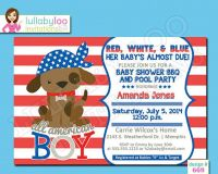 4th of July Baby Boy Shower Invitations 669 BBQ by ...