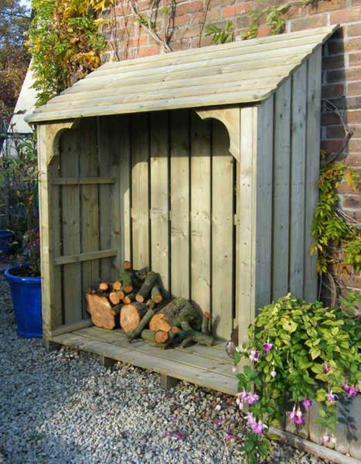 20 Excellent Diy Outdoor Firewood Storage ...