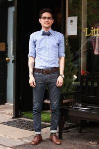 dapprly: Photo: Chloe Zhao Rock the casual bow tie.   Boy ...