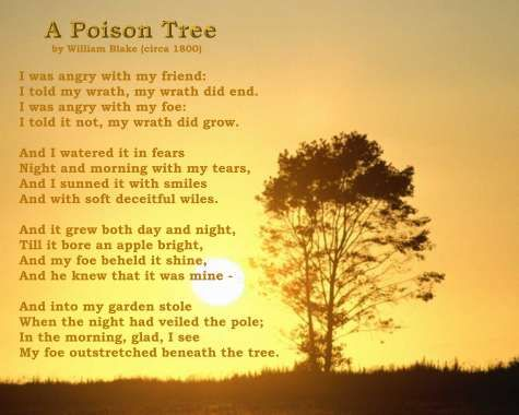 Poets Of The Fall Wallpaper Zehir Ağacı A Poison Tree Poem And Art By William Blake