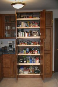 kitchen cabinets pull out pantry | pantry this pantry is ...