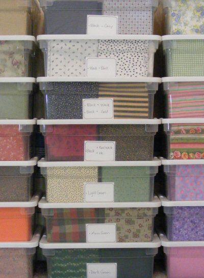 Fabric ... & Quilt Storage Ideas - Listitdallas