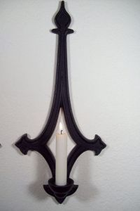 Gothic Style Black Metal Wall Sconces Candle Holders
