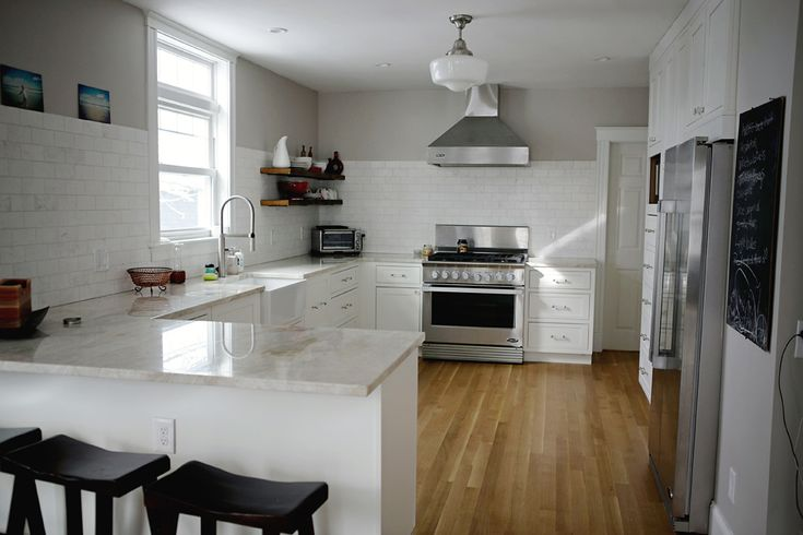 Beautiful Kitchens With Islands White Kitchen With No Upper Cabinets.. Http://ths