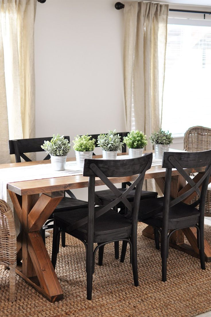 farmhouse table centerpieces farm style kitchen table 7 DIY Farmhouse Dining Room Tables All have free downloadable plans Build your own