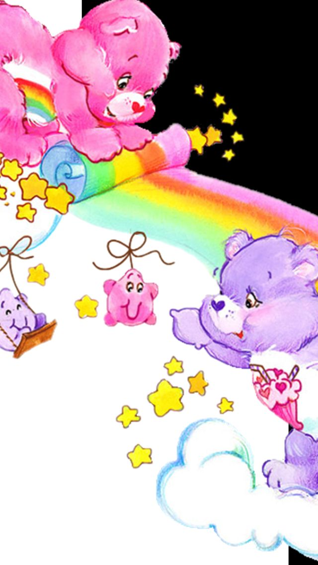 Free Wallpapers Of Cute Teddy Bears Care Bears Iphone 5 S Wallpaper Wallpapers Pinterest