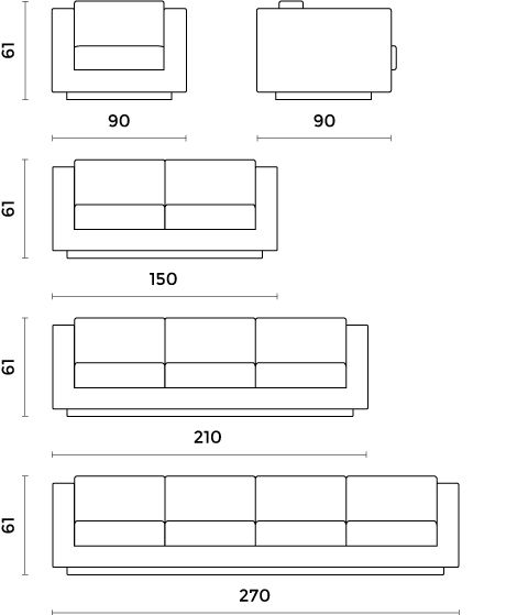Seater Sofa Standard Size Sofas Direct Bendigo