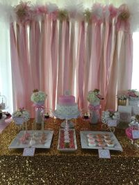 Pink and Gold Baby Shower Baby Shower Party Ideas | Food ...